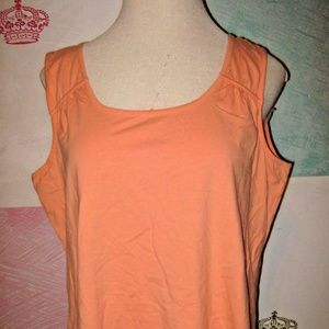 Tops - Light Bright Orange Stretch Knit Tank Top 3X NEW